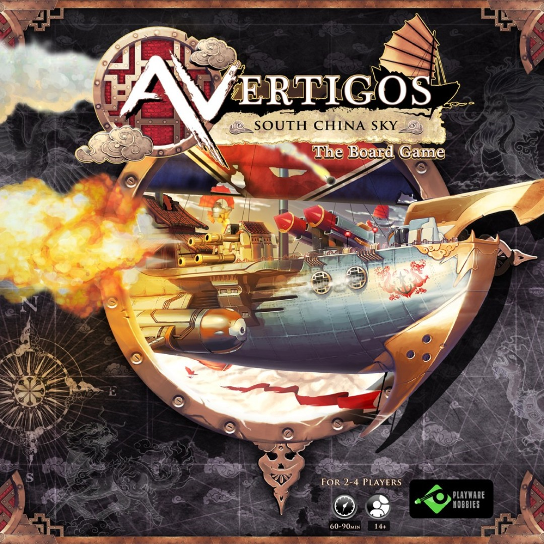 Avertigos South China Sky board game cover box set