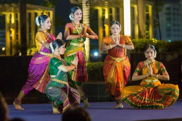 Apsaras Arts performing Bharatanatyam.