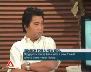 Ken Lim sits on the panel of Singapore Idol.