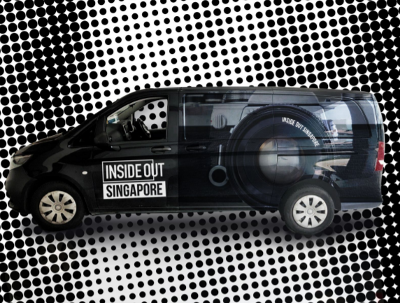 Artist impression of the Inside Out Singapore mobile truck which will tour from 30th October.