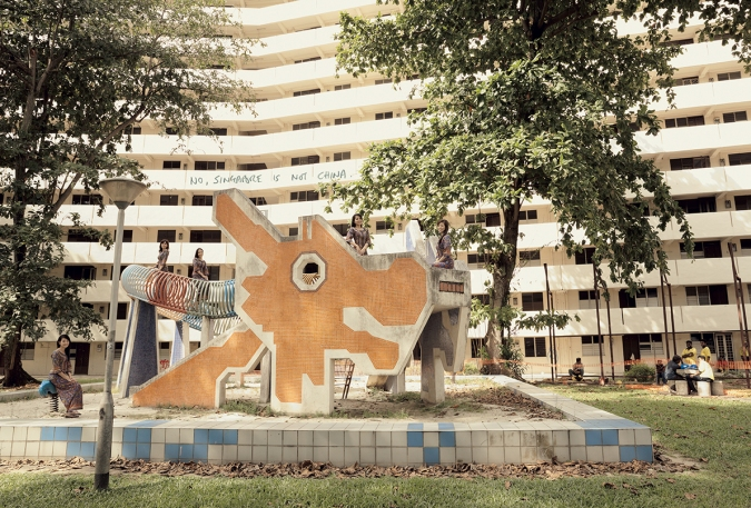 An image of the iconic Singaporean Dragon Playground by John Clang