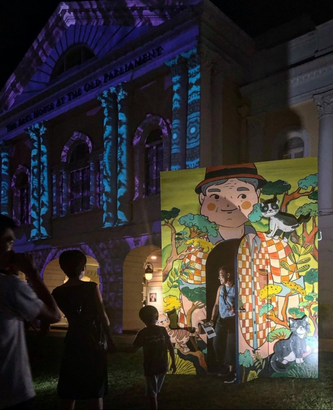The Art House presented a whimsical outdoor installation, open books: The World of Haruki Murakami during Light to Night Festival 2020.