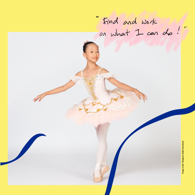 Singapore's Got To Move 2021 spotlight features young ballet dancer Yuuna Miyata Tan in a demure pose.