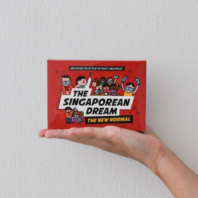 Board game box set of The Singaporean Dream: The New Normal sits nicely in the palm of your hands.