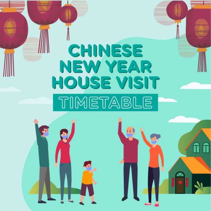 Watsons offers Singaporeans a CNY visitation timetable template in the wake of strict social distancing rules!