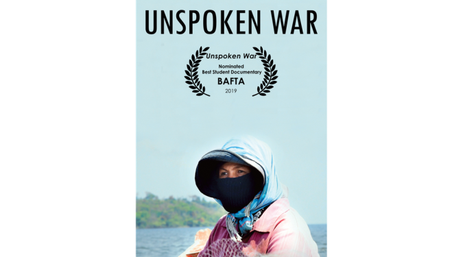 Poster of Unspoken War, a student documentary from LASALLE College of the Arts.