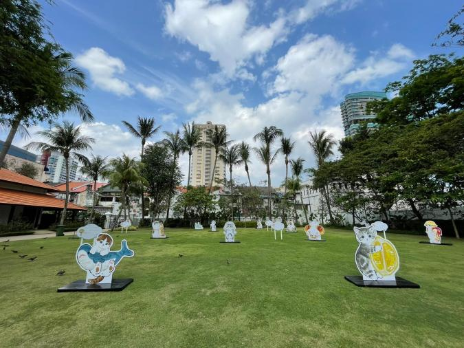 Malay Heritage Centre collaborated with Japanese artist Juno for Paw-verbs on the Lawn, an cat-themed installation that's both cute and educational!