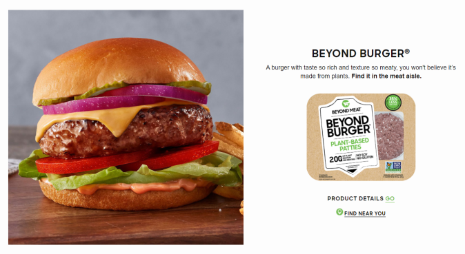 Beyond Meat's burger ad and packaging makes it near impossible for the naked eye to tell that this product is completely meat-free!