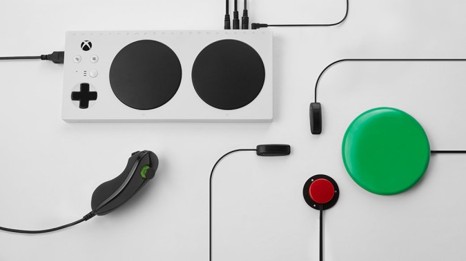 A minimalist ad for the Xbox Adaptive Controller, an accessory that's designed for those with limited mobility.