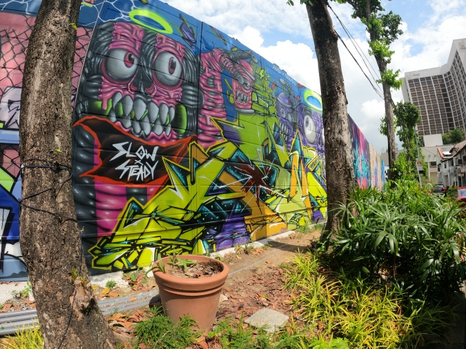 Local Graffiti Monsters by AshD and NOEZ23 which is featured at Hall of Fame @ Kampong Gelam.