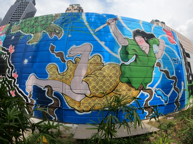 Tamotori Hime (The Pear Diver) by Sei10 which is featured at Hall of Fame @ Kampong Gelam.