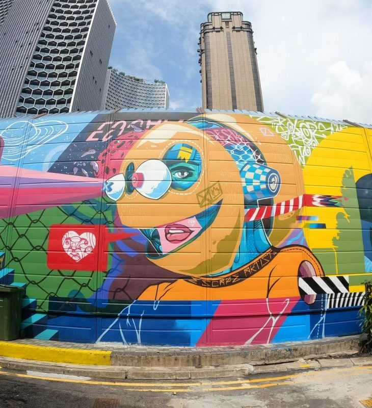Singapore's first graffiti hall of fame debuts at Kampong Gelam.