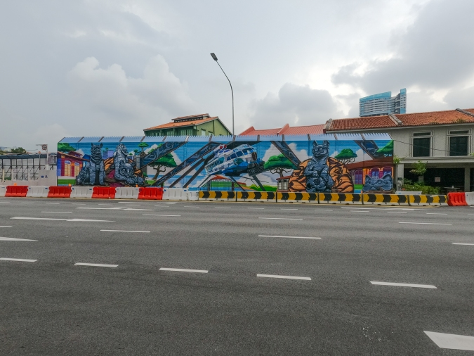Constant Elevation by ANTZ, Didier 'Jaba' Mathieu and Hegira, which is featured at Hall of Fame @ Kampong Gelam.
