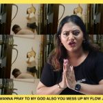 """A still image from 'BUCK IT UP - K. MUTHUSAMY' with the lyrics """"Wanna pray to my god also you mess up my flow"""". Preetipls and Subhas in frame."""